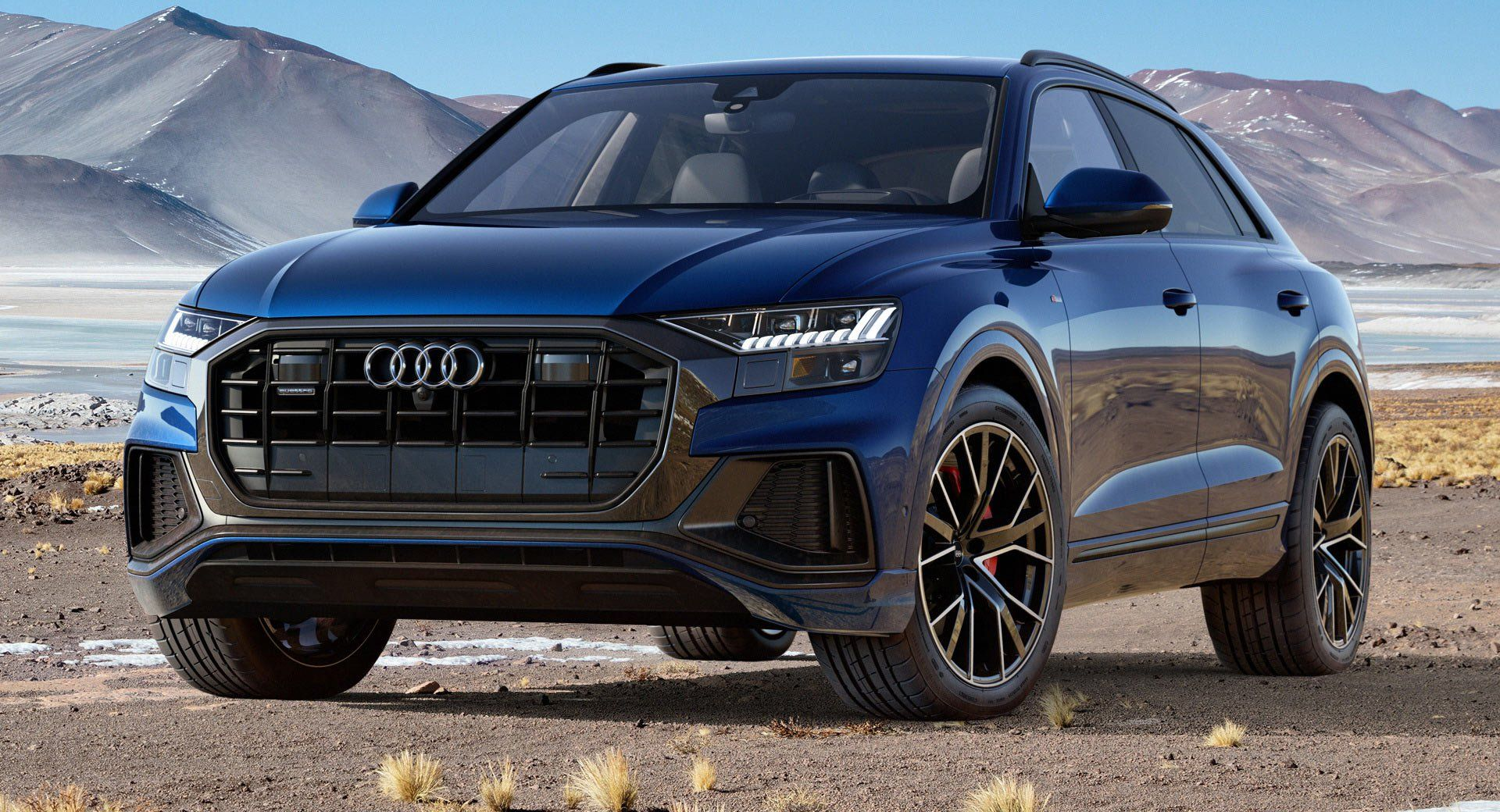 2019 Audi Q8 Arrives In The Us With A Single Engine Option And Lots Of Attitude Carscoops Audi Audi Suv Audi Cars