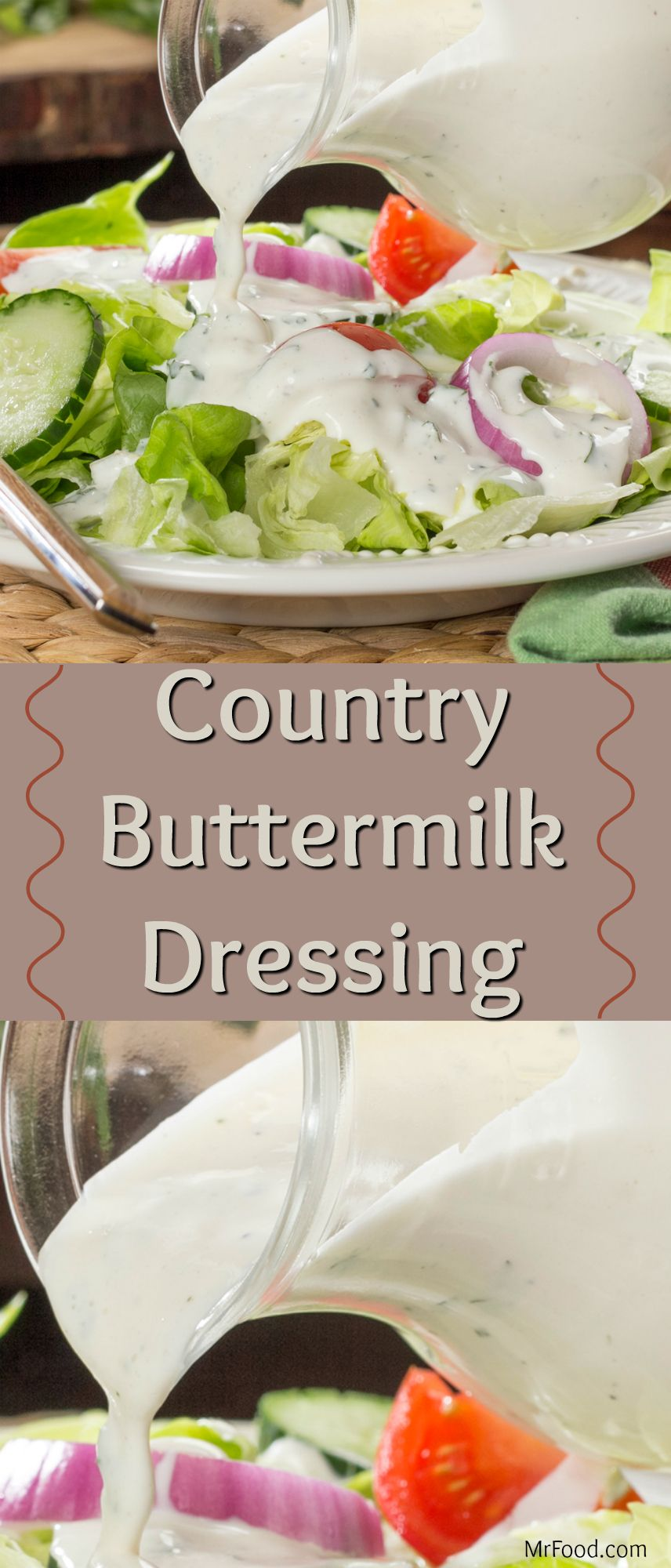 Country Buttermilk Dressing Recipe Buttermilk Salad Dressing Homemade Salad Dressing Delicious Salads