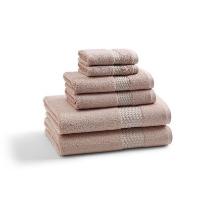 Basics Quick Dry 6 Piece 100 Cotton Towel Set Towel Set Towel