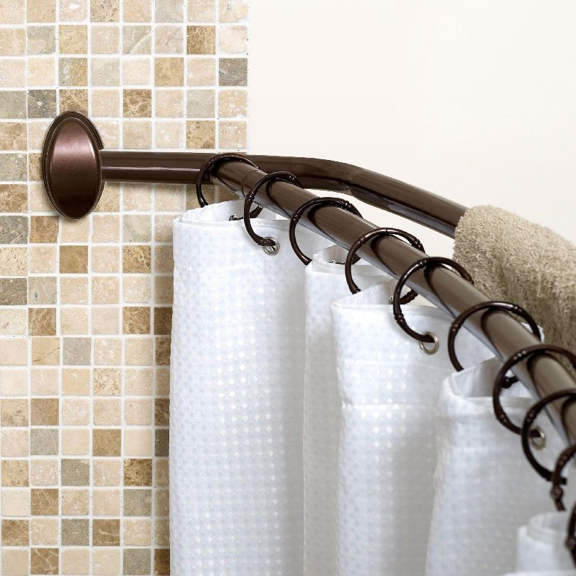 Bowed Shower Curtain Rod