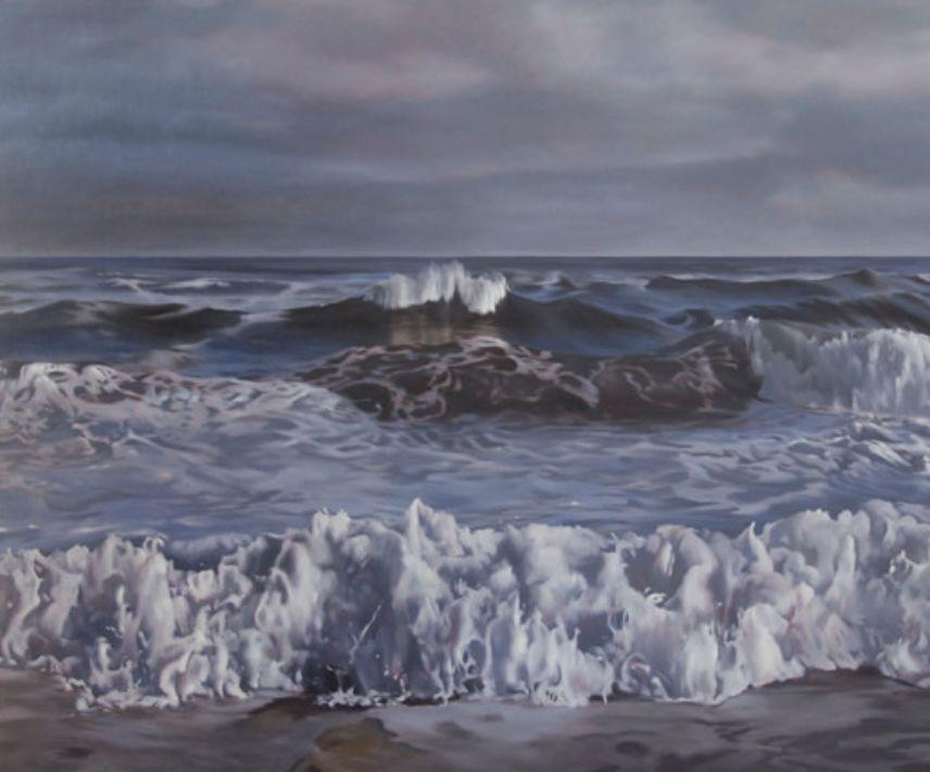 """April Gornik ~ """"Shining Sea"""", 2009 ~ Oil on Linen 77x94"""