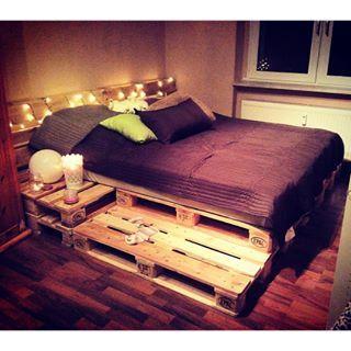 palettenbett pinteres. Black Bedroom Furniture Sets. Home Design Ideas