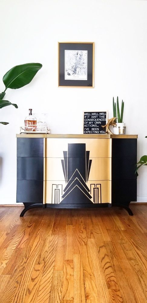 Photo of How to Paint an Art Deco Dresser Make Over Upcycling Furniture