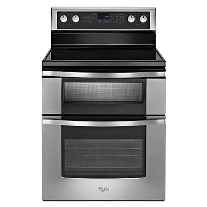 Whirlpool Stainless Glass Top Stove With Double Oven Double Oven Electric Range Electric Double Oven Double Oven