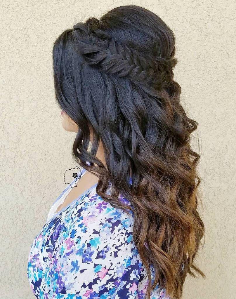 gorgeous half up half down hairstyles hair pinterest hair