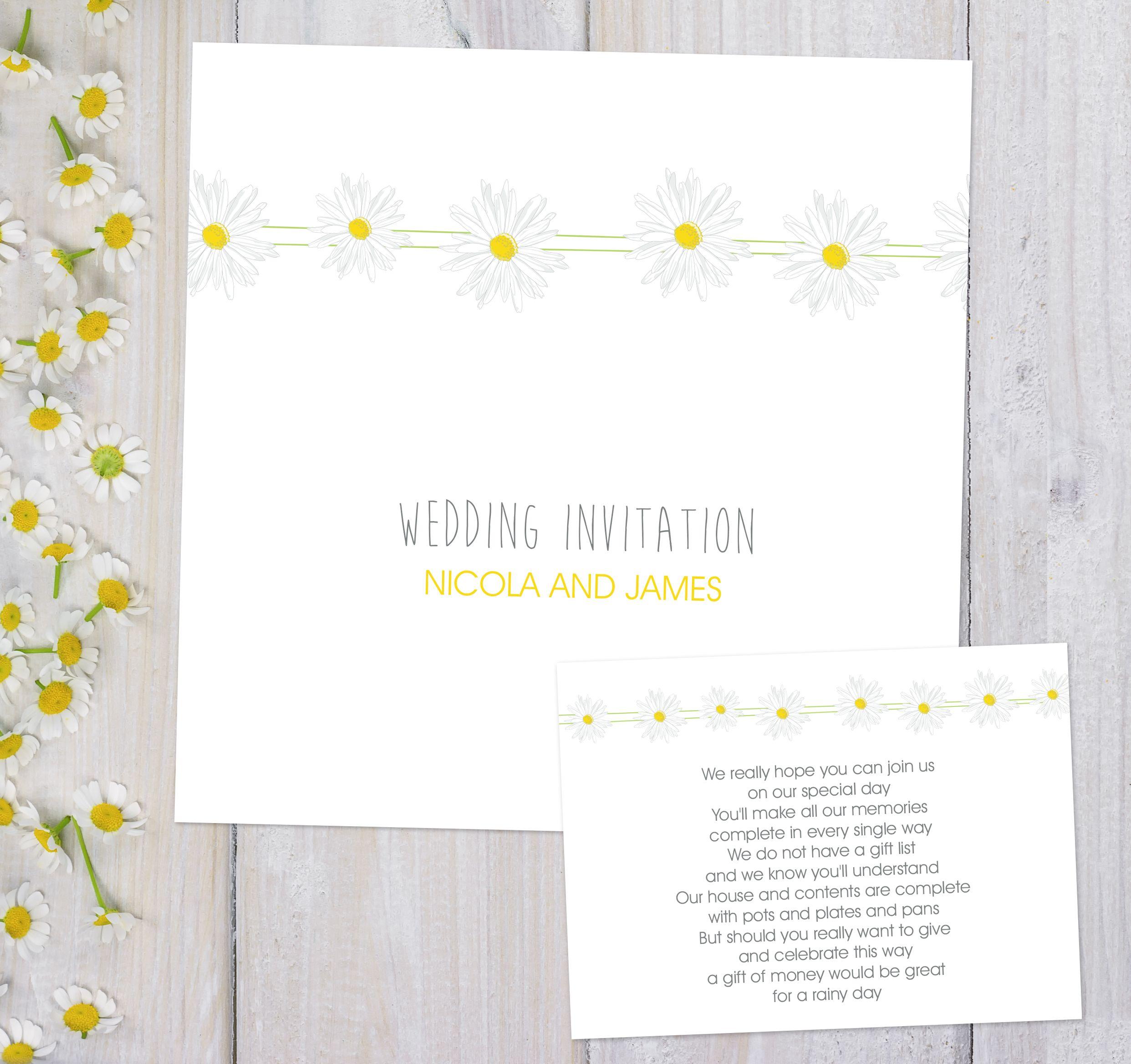 Daisy Chain Day Invitation Daisy Chain Weddings And Wedding