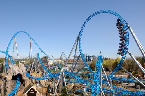 Blue Fire Roller Coaster Germany Google Search