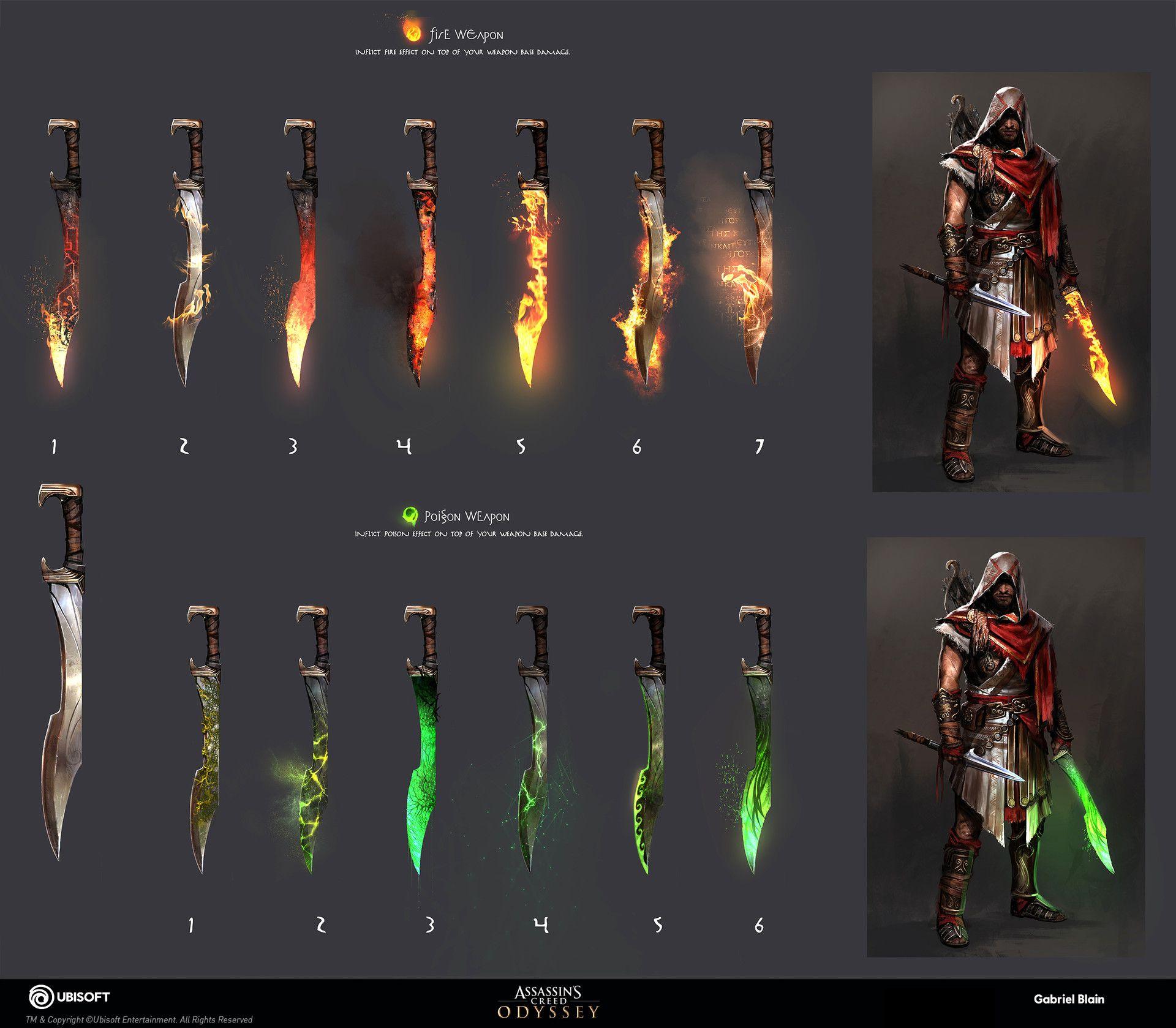 Artstation Elemental Damage Gabriel Blain Assassins Creed Art