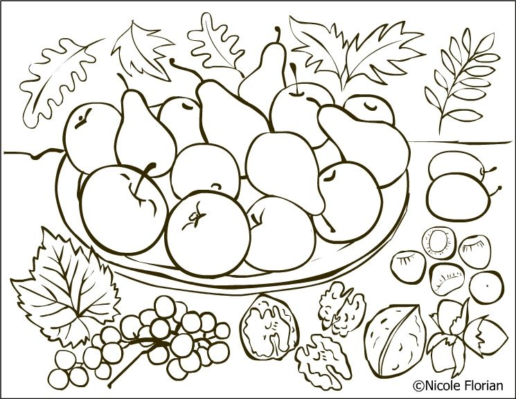 Nicole S Free Coloring Pages Autumn Fruits Coloring Page Desene De Colorat Cu Toamna Fruit Coloring Pages Coloring Pages Free Coloring Pages
