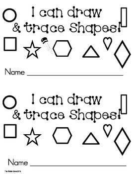 Trace & draw shapes ** emergent leveled reader book