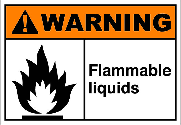 Flammable Liquids 164 Signs Ansi Safety Signs Warning Pinterest