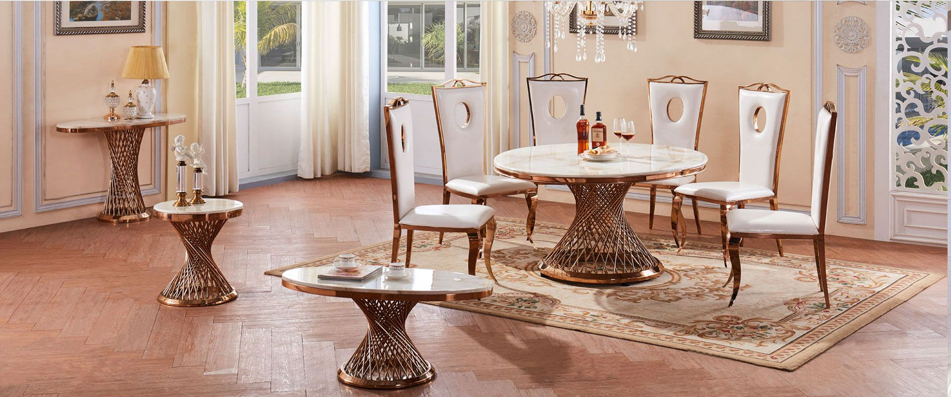 Pin By Homeylife Furniture On See What We Have In 2020 Dining Table Marble Nesting Coffee Tables Marble Dining