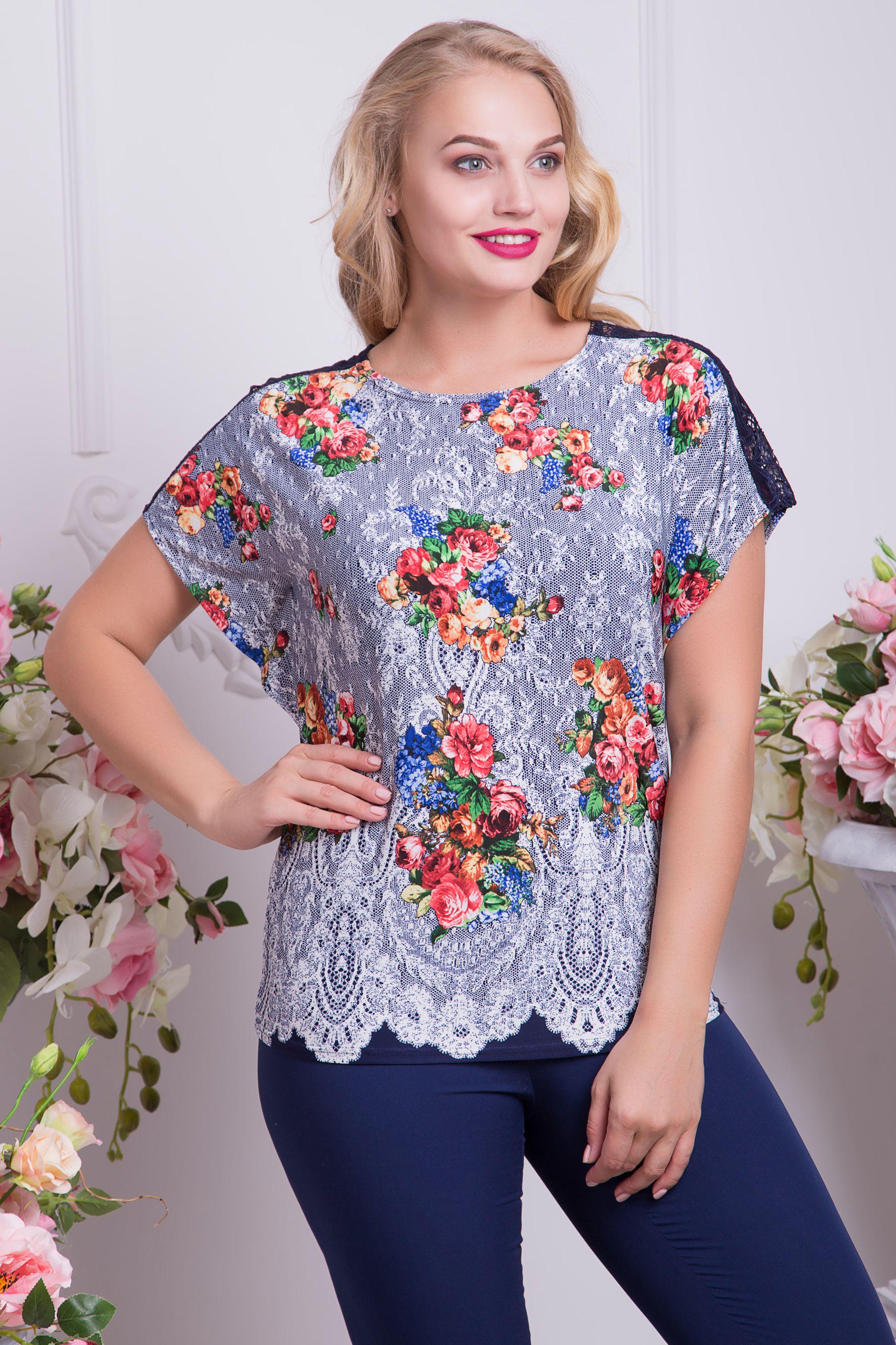 b03e5b9d3af4b03 ... Летняя коллекция одежды для полных пользователя ТМ ALL POSA женская  одежда оптом. Теги. Цветочные Топы · Цветочные Топы