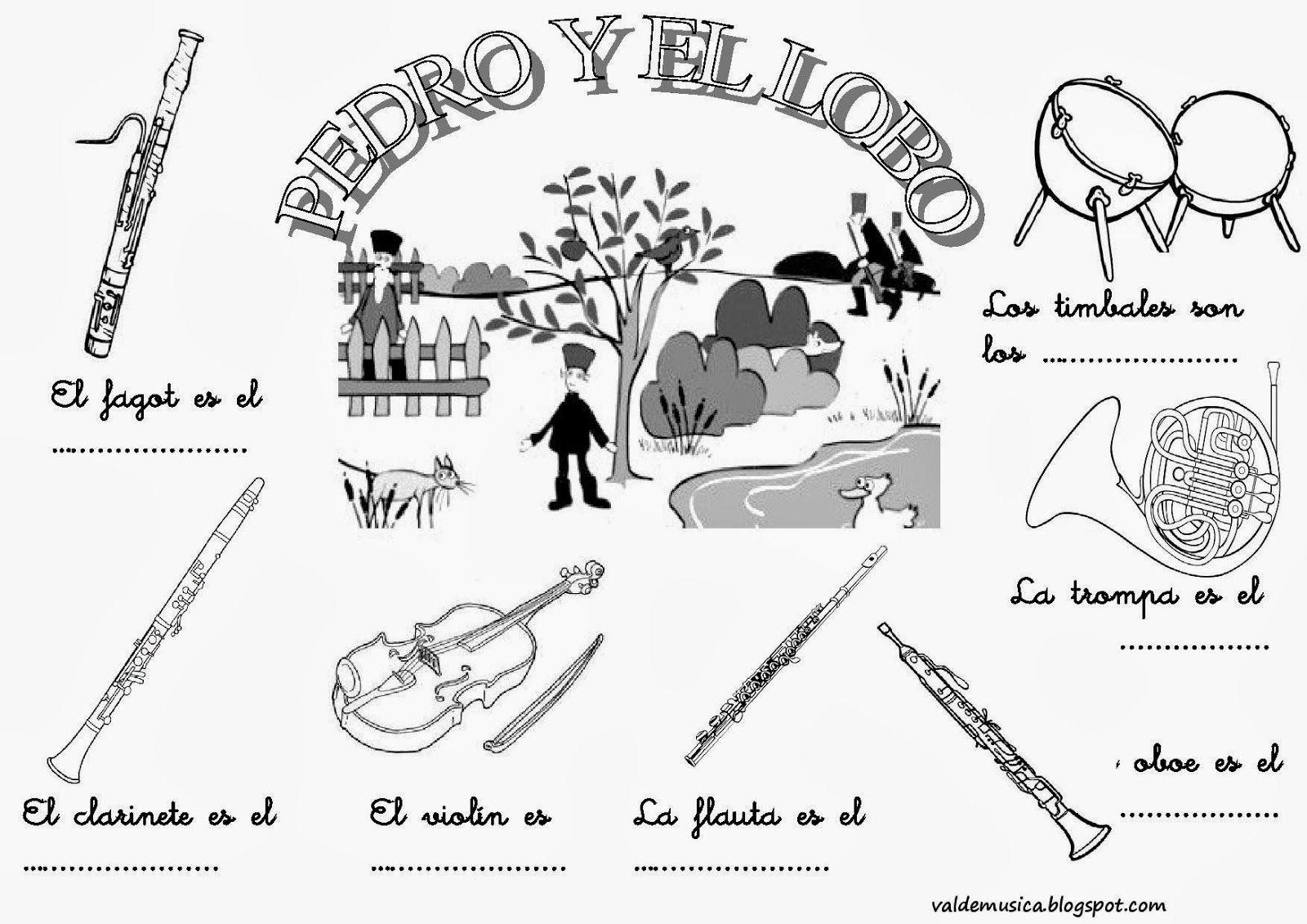 Pedro Y El Lobo Actividades