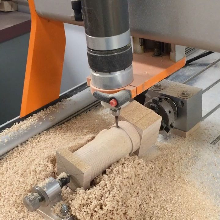 Stepcraft 4th Axis In Action Cnc Woodworking Cncowners Stepcraftcnc Craft Hobby Start Making Room In Your Workshop For Stepcraft Today