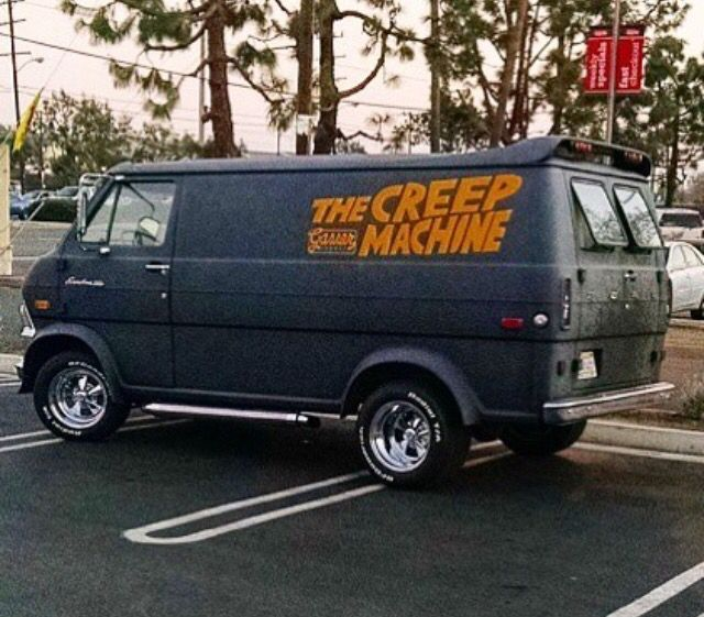 The Creep Machine Custom 70 S Ford Van Custom Vans Ford Van