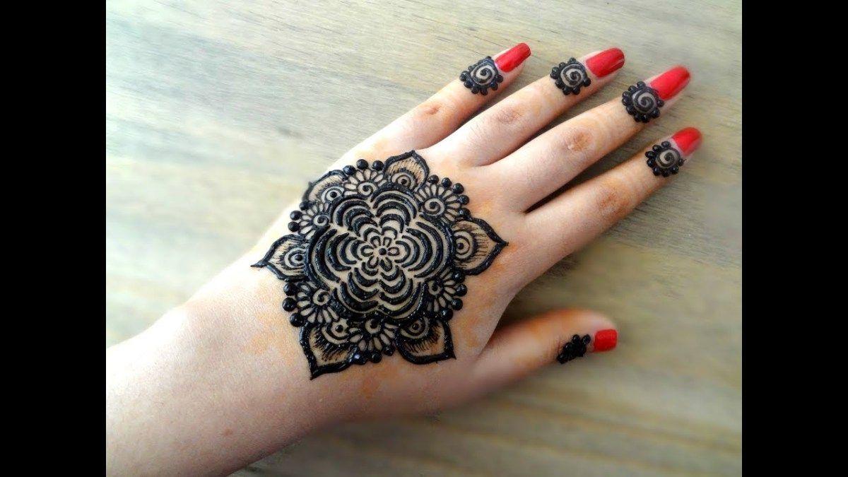 How To Apply Beautiful Flowers Easy Mandala Gol Tikki Henna Mehndi Designs For Hands For Eid W Mehndi Designs For Hands Mehndi Designs Full Hand Mehndi Designs