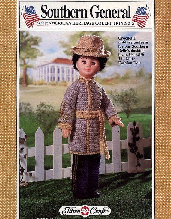 Southern General Fibre Craft Crochet Male Fashion Doll Clothes