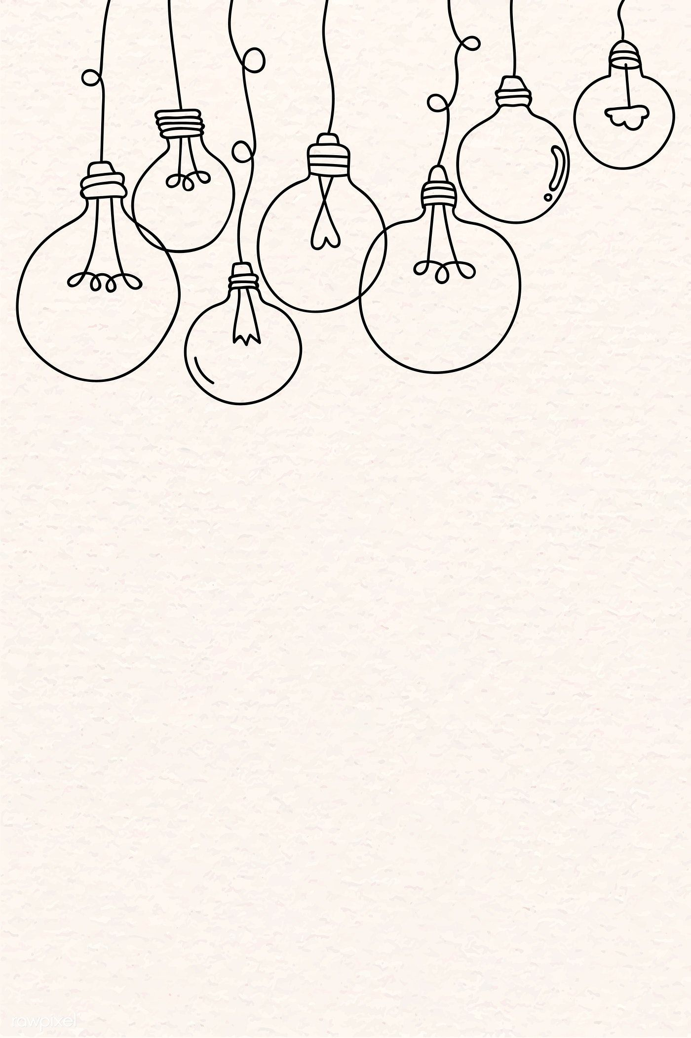 Download Premium Vector Of Creative Light Bulb Doodle On Beige Background Bullet Journal Art Mini Drawings Easy Doodle Art
