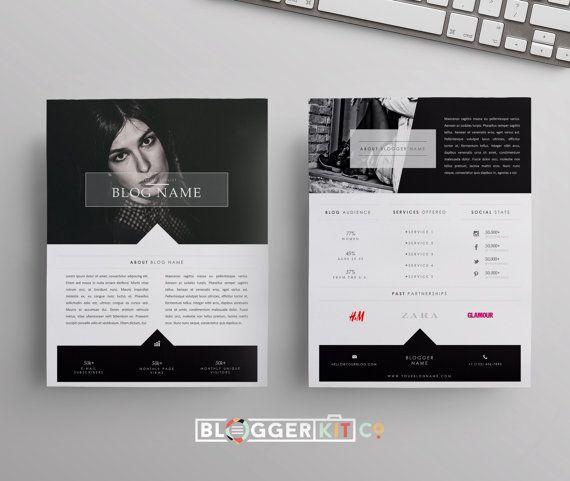Two Page Media Kit Template Press Kit Template Electronic Press