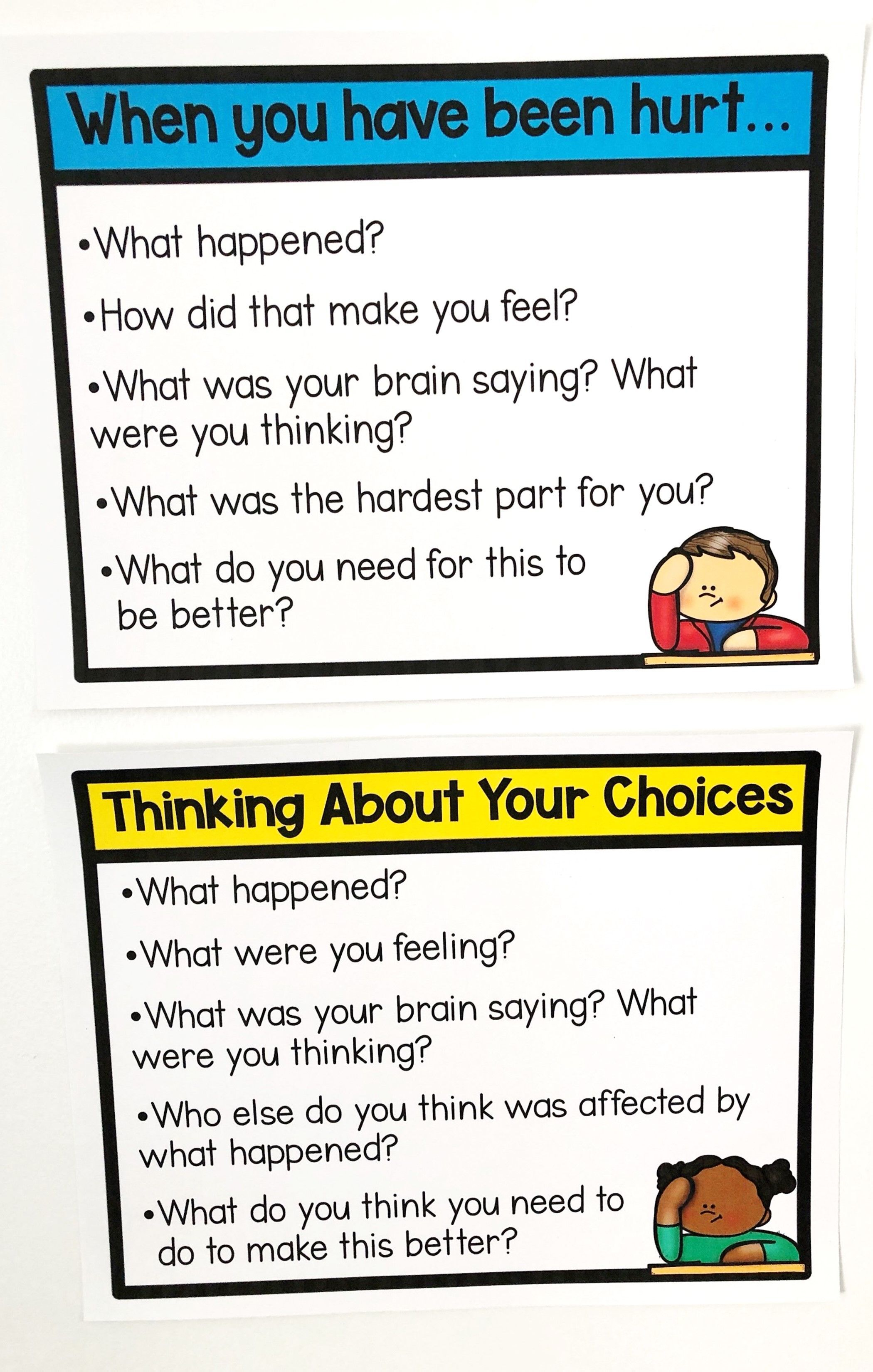 Restorative Practices Behavior Reflection Think Sheets In