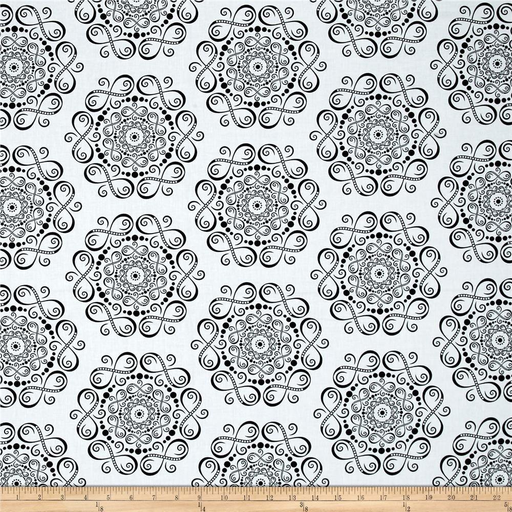 Transformation Infinity Variation White Black Black Fabric Printing On Fabric Fabric
