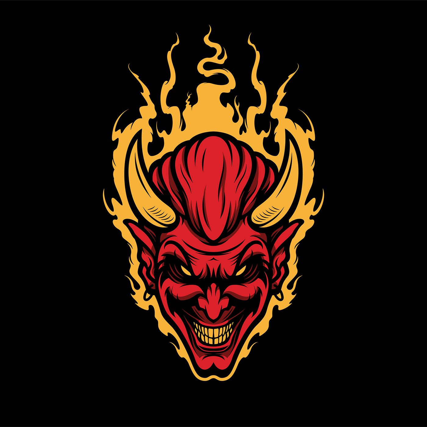 Mascot Logo in 2020 Logo design art, Satanic art, Game
