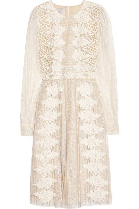 Embroidered lace dress #Valentino #DesignerSpotlight