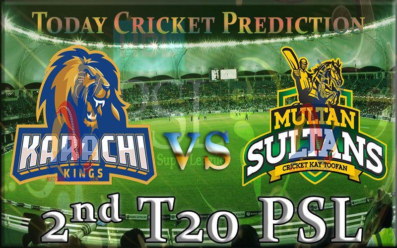 Today Cricket Prediction Karachi Kings vs Multan Sultans PSL