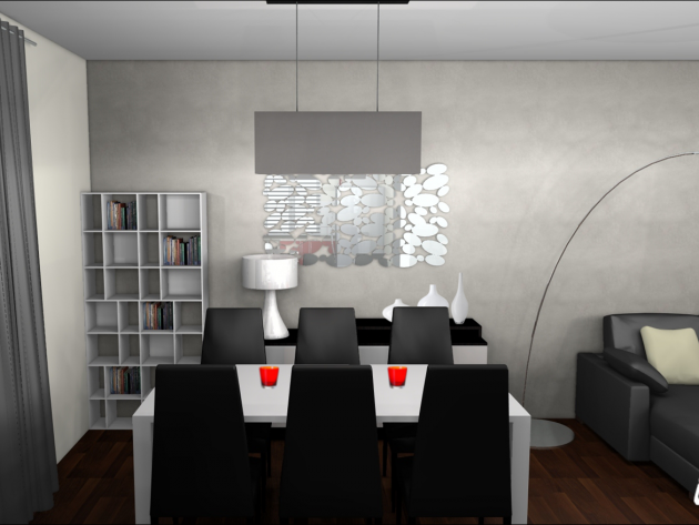 D coration salle manger pixlr pinterest decoration for Salon salle a manger contemporain