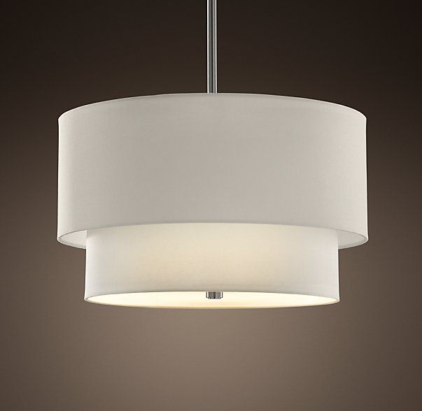 Two Tier Round Shade Pendant Restoration Hardware $725
