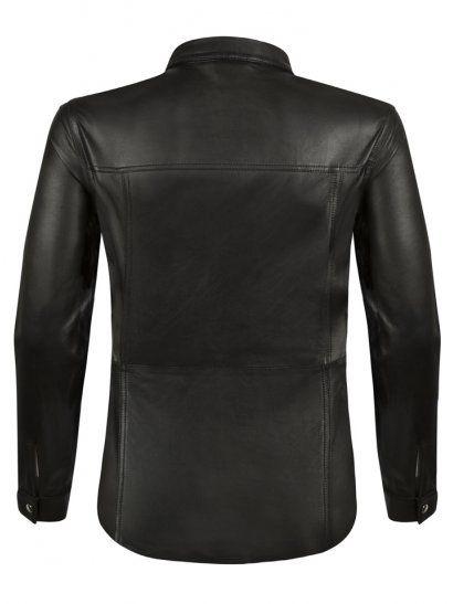 Muubaa Mason Black Leather Western Shirt