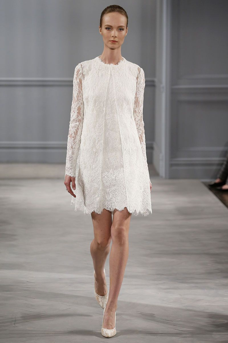 Schöne kurze Hochzeitskleider: Schlicht mit Blazer | Kleider ...