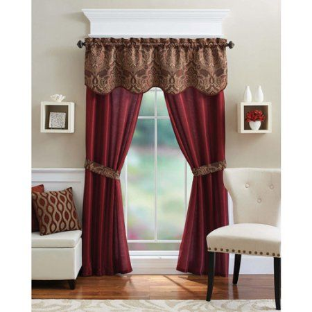 Better Homes And Gardens Medallion 5 Piece Curtain Panel Set