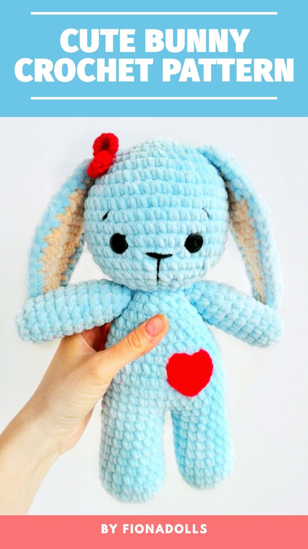 Amigurumi Cute Bunny Free Pattern | Crochet rabbit, Crochet bunny ... | 1920x1080