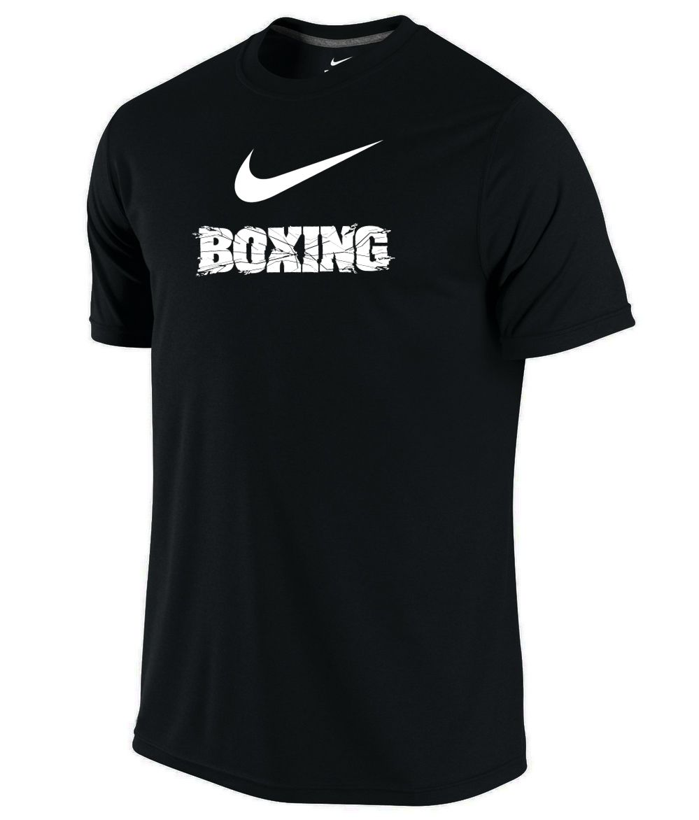 Nike Men's Dri-Fit Cotton Boxing Tee - Black / White - Athlete Performance  Solutions