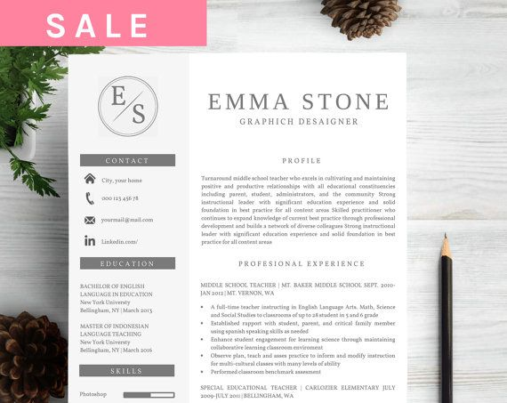 Resume Template   CV Template Cover Letter Instant by MyResume - my resume template