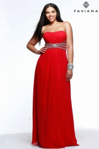 plus size chiffon dress with beaded waist and lace back