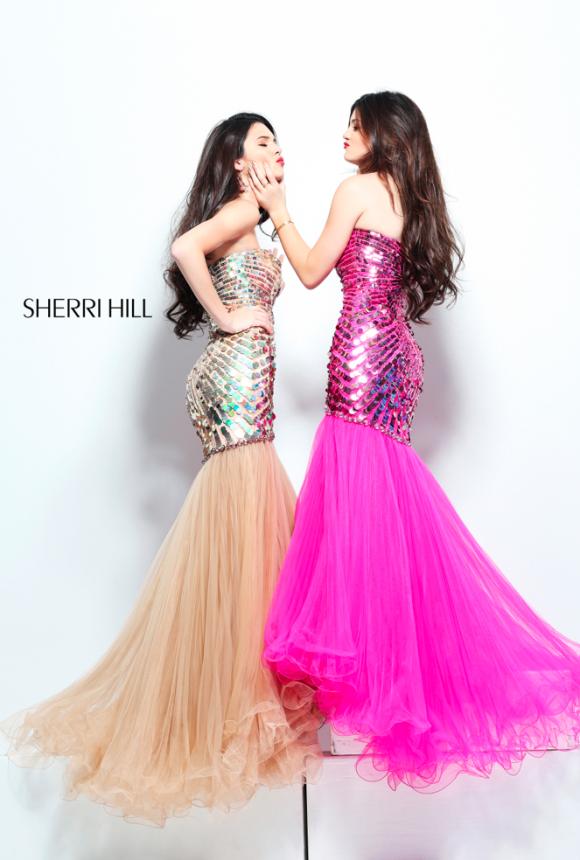 Kendall Jenner and Kylie Jenner Model Sherri Hill Spring 2013 Dress ...