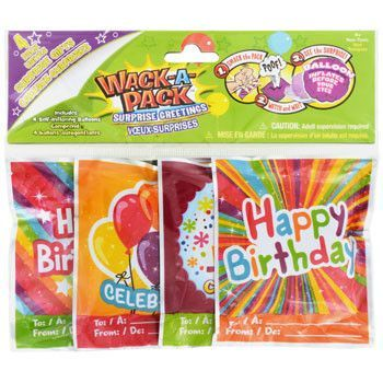 Wack A Pack Self Inflating Birthday Balloons 4 Ct