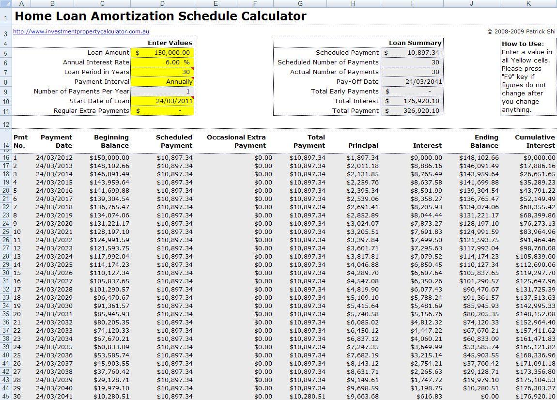 Nice Mortgage Amortization Calculator