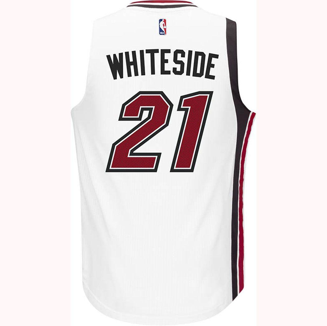 watch e7810 57b41 adidas Miami HEAT Hassan Whiteside Legacy Swingman Jersey ...