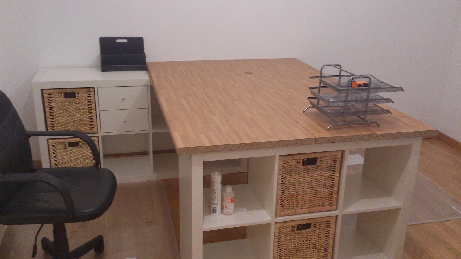 Una mesa de despacho con sitio para todo mi ll v ll n - Mesa despacho ikea ...