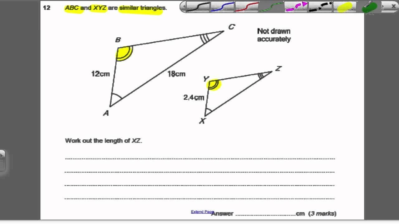 Similar Shapes 2 Gcse Higher Maths Exam Qs 24 Maths Exam Kids Worksheets Printables Gcse Math [ 720 x 1280 Pixel ]