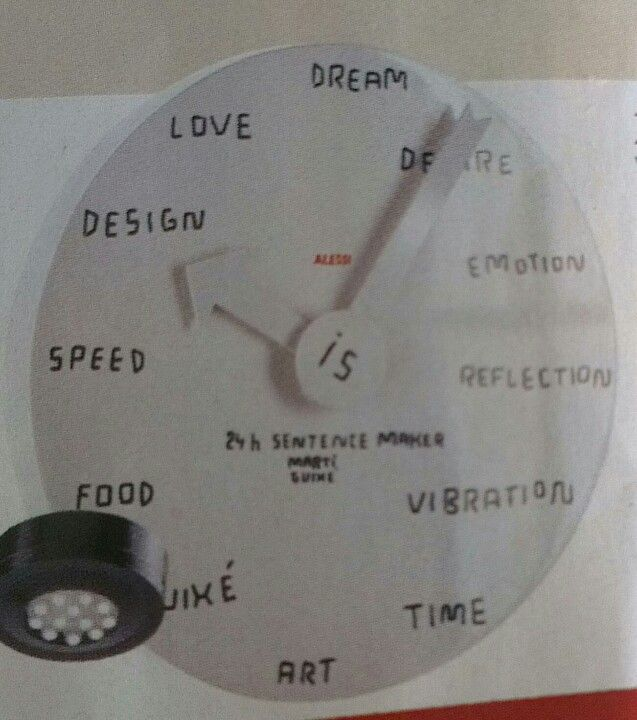 Blank Wall Clock Marti Guixe For Alessi Time Art Blank Walls Design