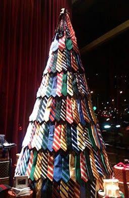 With Grandpas Ties Creative Christmas Trees Modern Christmas Tree Alternative Christmas Tree
