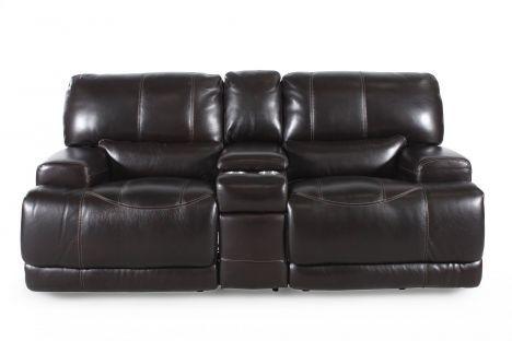SIMON M004/LS   Simon Li Leather Longhorn Blackberry Loveseat | Mathis  Brothers Furniture
