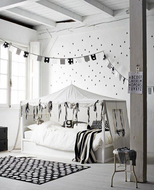 chambre d\u0027enfant style scandinave noir et blanche Home