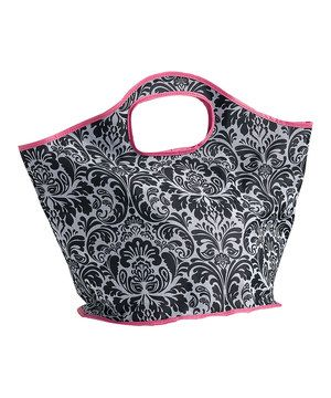 Love this Black & White Damask Small Tote by Design Imports on #zulily! #zulilyfinds