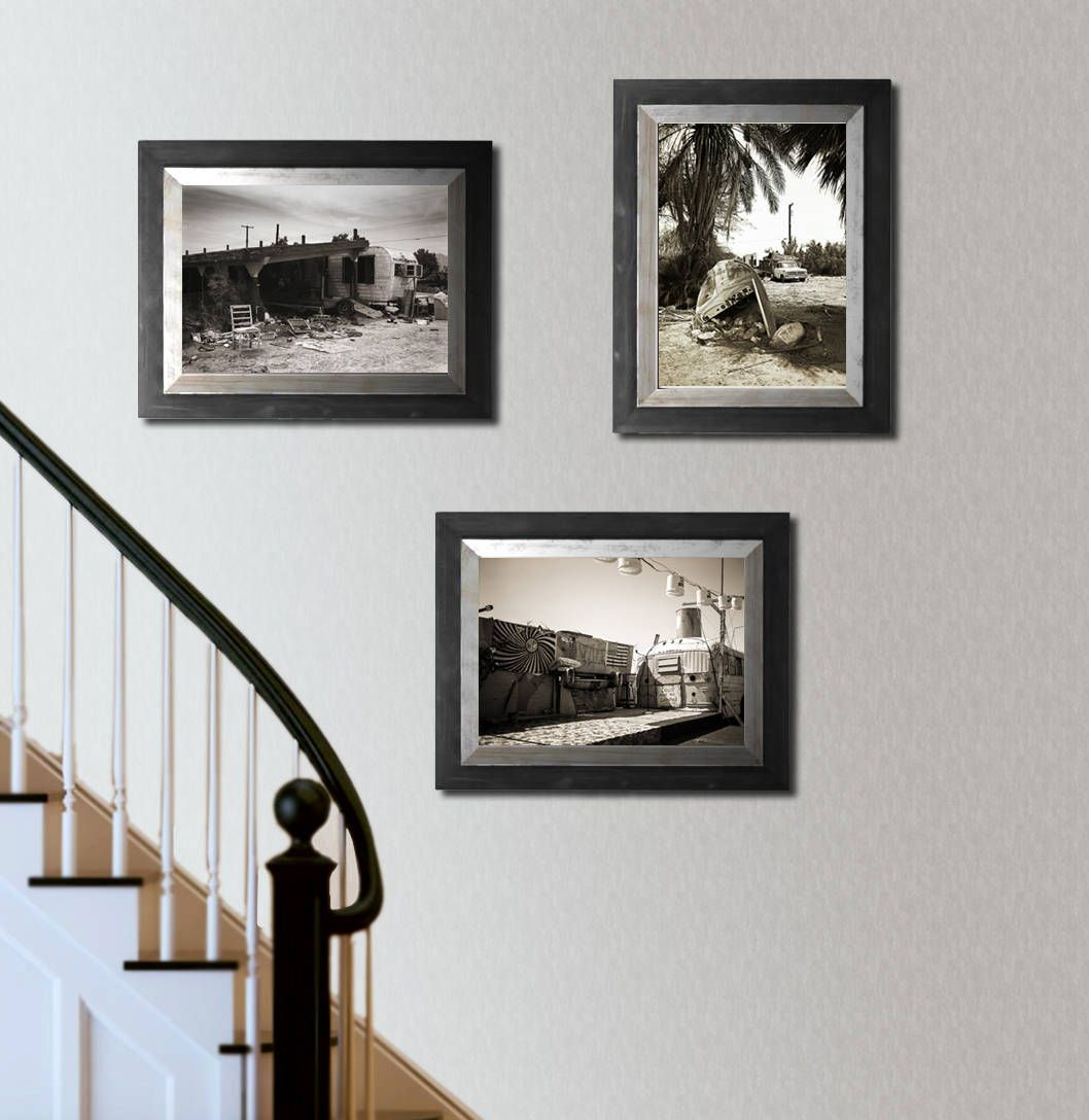Salton Sea California Art Collection Set Of 3 Prints Black